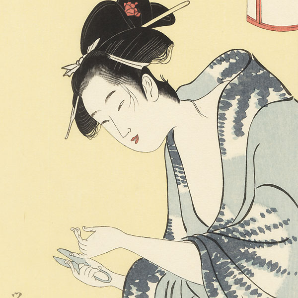 Beauty After a Bath by Eisho (active circa 1790 - 1799)