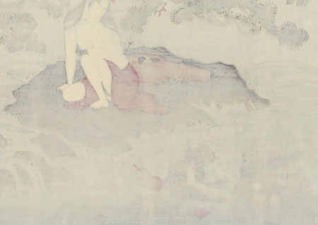 Beauty Being Ravished by Kappa by Utamaro (1750 - 1806)