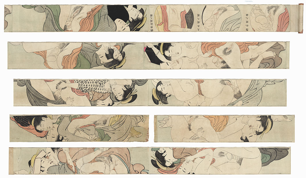 Sodo no maki (Handscroll for the Sleeve) - 10 prints by After Kiyonaga (1752 - 1815)
